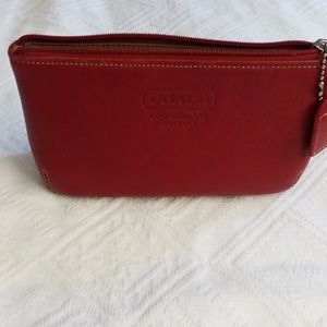 Vintage Coach jewelry/cosmetic bag/ clutch